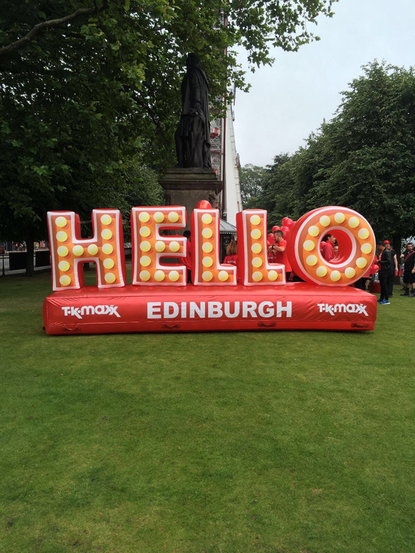 inflatable hello letters