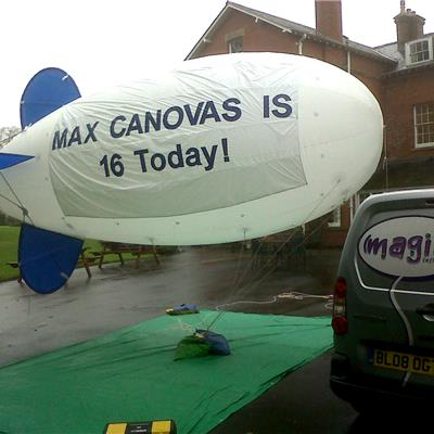 Outdoor Blimp with Banners