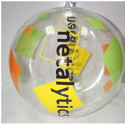 Transparent PVC Printed Beach Ball
