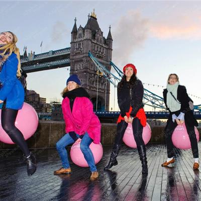 Inflatable Evian Hoppers on Tower Bridge for photoshoot