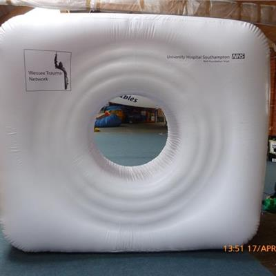 Inflatable CT Scanner - for use in hospitals to familarise children with the mac