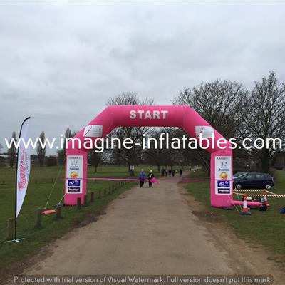 6x4m pink arch