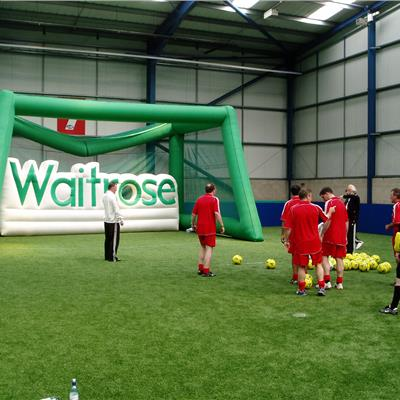 Inflatable Sports Shoot out for 'Waitrose' bespoke letters with target shoot out