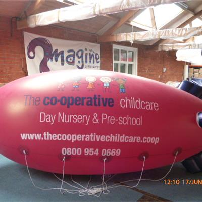PVC 12ft Idoor Blimp - Pantone matched