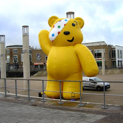 Inflatable Pudsey Bear for the BBC