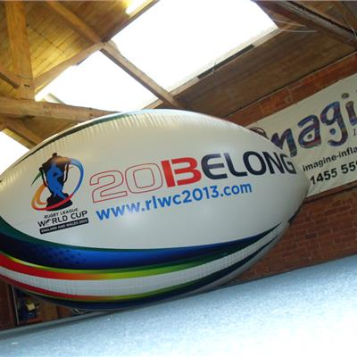 Inflatable Branded Rugby Ball