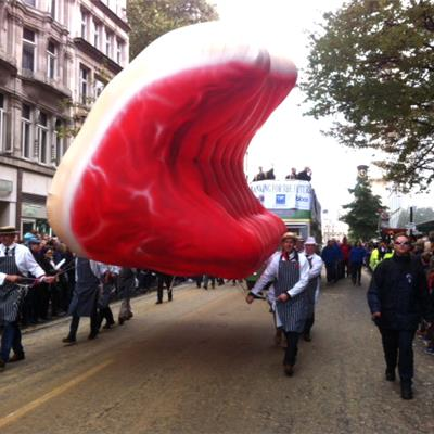 Inflatable Rib of Beef at the Lord Mayors Show