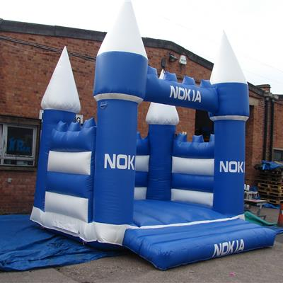 Inflatable branded bouncy castle