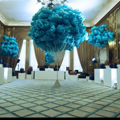 Printed Cloud Balloon display for Aspinals of London