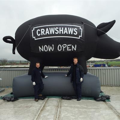 Inflatable Pig for Crawshaws Butchers