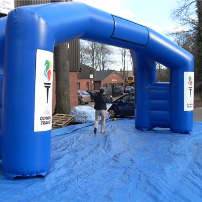 Double Leg branded  Inflatable Blue Sports Arch