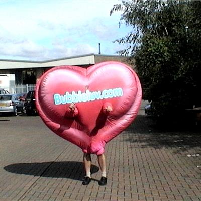 Inflatable Heart Costume for Bubbleluv