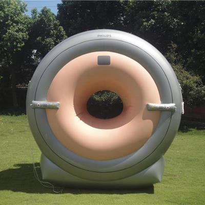 Inflatable CT Scanner replica for a hospital