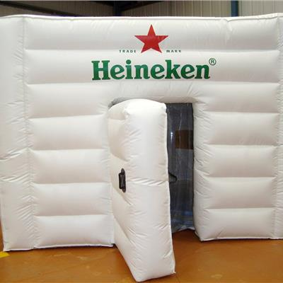 Ribbed Inflatable 5Mx5M Heineken Cube with hinged door.