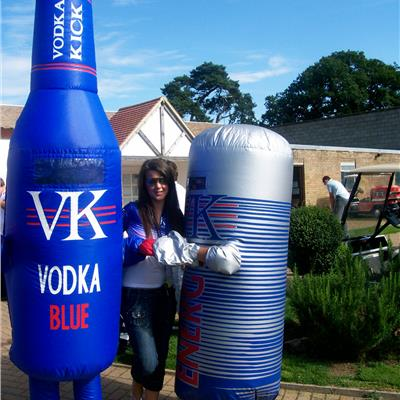 Bottle and Can costumes for VK Vodka