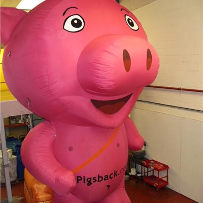 Inflatable Pig at 5 Metres high