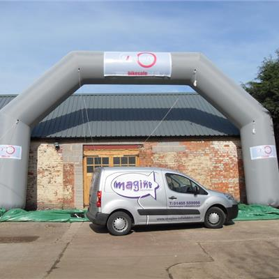 Giant Inflatable Grey Branded Arch