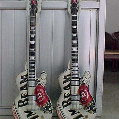 Inflatable Jim Beam Guitars