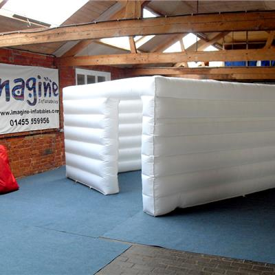 Ribbed Nylon Inflatable Cube Structure