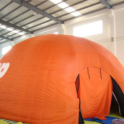 Smooth Outer Surface Inflatable Orange Printed Dome