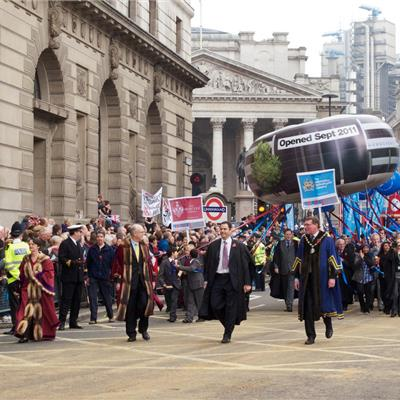 Lord Mayors Show helium special shape Inflatable