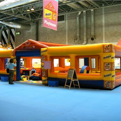 inflatable weatabix play area
