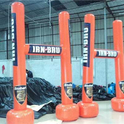 Irun Bru promotional and branded inflatable Rugby goal posts
