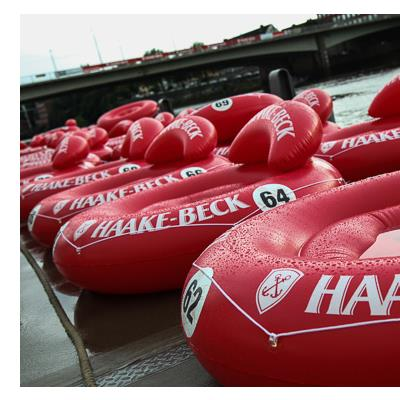 Printed Haake Beck Chairs for Annual Gala/ Race