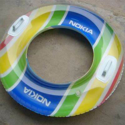Inflatable Swim Rings fully Printed Base with transparent inflatable chamber.