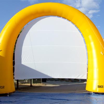 Inflatable arch projection screen