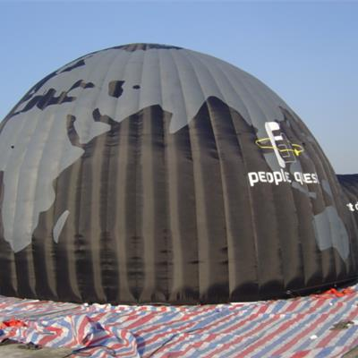 Printed Inflatable Dome Building