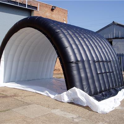 Inflatable Tunnel full ribbed structure. 6Mx6Mx3M