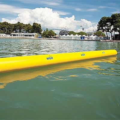 Cylinder Barrier to create a water sports pitch