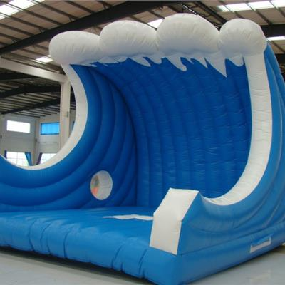 Bespoke wave inflatable - for photo shoots on surf board