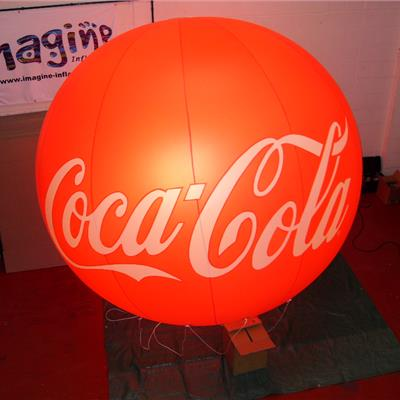 Lighted Red Coca-Cola indoor giant sphere
