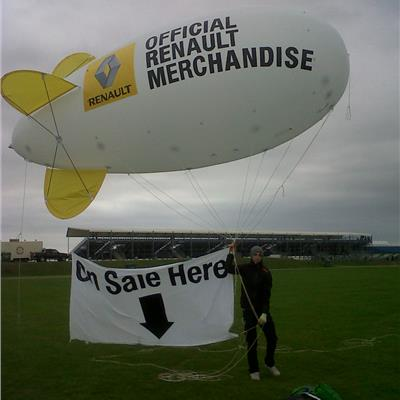 Renault Blimp with Tether Line Banner.