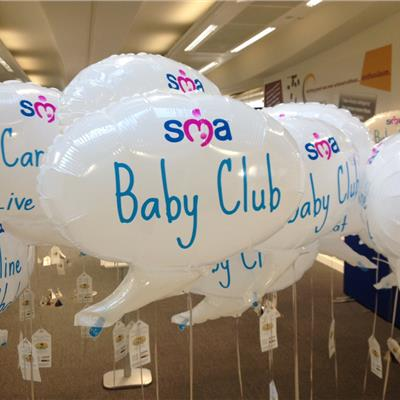 SMA Baby Club Speech Bubble balloons