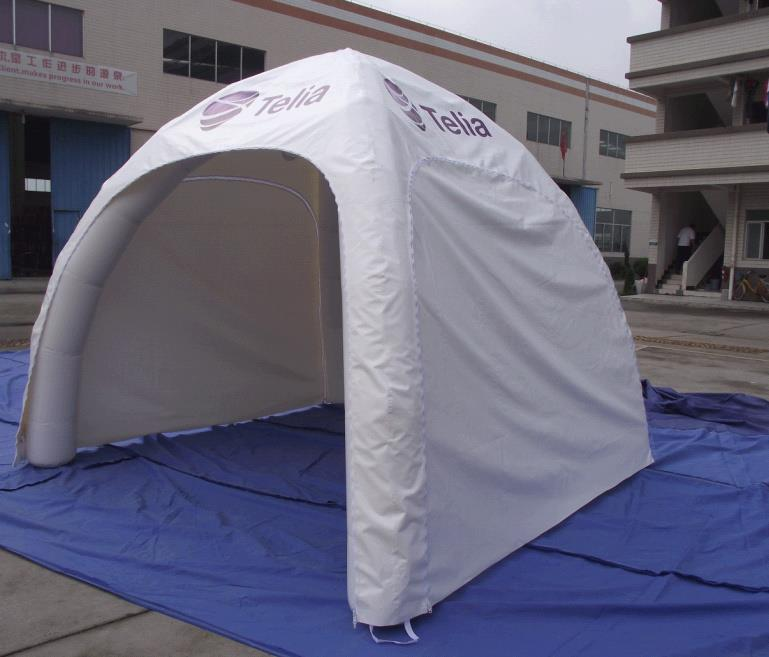 Small White Branded Inflatable Canopy & Inflatable Event Stations Spider Tents Inflatable Marketing Shelters